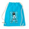PRINTFASHION Görkorcsolyás lány - Sportzsák, Tornazsák - Surf blue