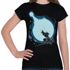 PRINTFASHION Kamehameha - Női póló - Fekete