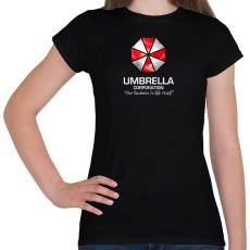 PRINTFASHION Umbrella Corp. - Női póló - Fekete