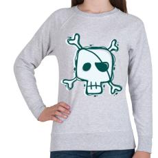 PRINTFASHION Kalóz halálfej - Női pulóver - Sport szürke