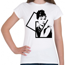 PRINTFASHION Audrey Hepburn - Női póló - Fehér
