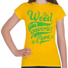 PRINTFASHION Kedvenc gyomom - Női póló - Sárga