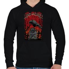 PRINTFASHION Az éjszaka ura - Férfi kapucnis pulóver - Fekete