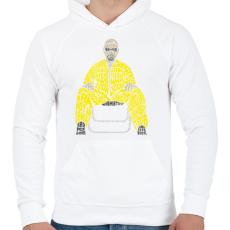 PRINTFASHION Veszélyes vagyok - Férfi kapucnis pulóver - Fehér