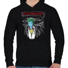 PRINTFASHION Határok - Férfi kapucnis pulóver - Fekete