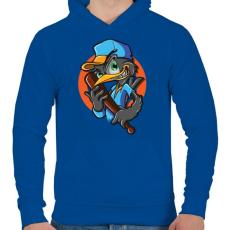 PRINTFASHION Baseball madár - Férfi kapucnis pulóver - Királykék