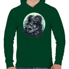 PRINTFASHION Halálos Csók - Férfi kapucnis pulóver - Sötétzöld