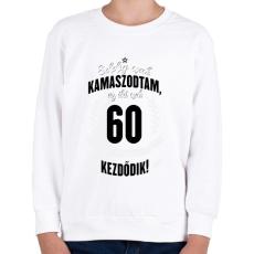 PRINTFASHION kamasz-60-black-white - Gyerek pulóver - Fehér