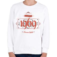 PRINTFASHION since-1969-red-black - Gyerek pulóver - Fehér