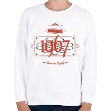 PRINTFASHION since-1967-red-black - Gyerek pulóver - Fehér