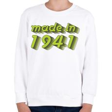 PRINTFASHION made-in-1941-green-grey - Gyerek pulóver - Fehér