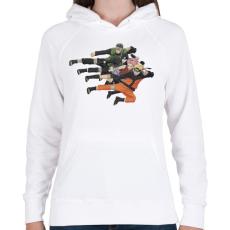 PRINTFASHION Naruto Shippuden Team - Női kapucnis pulóver - Fehér
