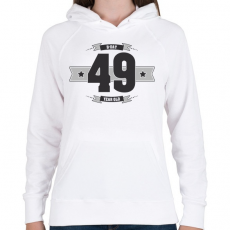 PRINTFASHION b-day-49-dark-lightgrey - Női kapucnis pulóver - Fehér