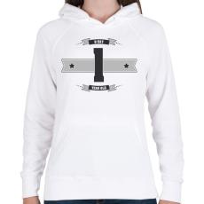 PRINTFASHION b-day-01-dark-lightgrey - Női kapucnis pulóver - Fehér
