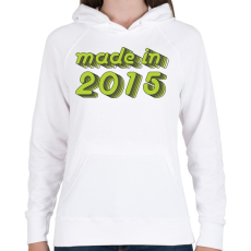 PRINTFASHION made-in-2015-green-grey - Női kapucnis pulóver - Fehér