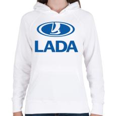 PRINTFASHION Lada - Női kapucnis pulóver - Fehér