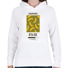 PRINTFASHION Örökké banán - Női kapucnis pulóver - Fehér