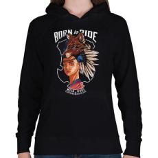 PRINTFASHION Vadnyugat - Női kapucnis pulóver - Fekete