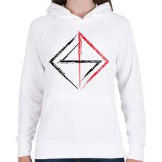 PRINTFASHION jel - Női kapucnis pulóver - Fehér