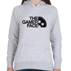 PRINTFASHION Gamer Face - Női kapucnis pulóver - Sport szürke