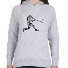 PRINTFASHION Baseball játékos - Női kapucnis pulóver - Sport szürke