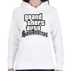 PRINTFASHION GTA  - Női kapucnis pulóver - Fehér