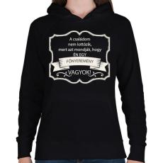 PRINTFASHION Főnyeremény - Női kapucnis pulóver - Fekete