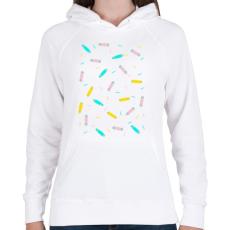 PRINTFASHION Ice cream boards tee - Női kapucnis pulóver - Fehér