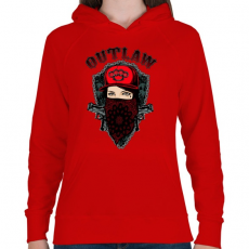 PRINTFASHION Törvényen kívüli - Női kapucnis pulóver - Piros