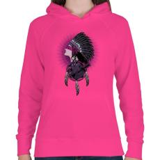 PRINTFASHION Tények - Női kapucnis pulóver - Fukszia