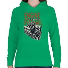 PRINTFASHION Nagyszervíz - Női kapucnis pulóver - Zöld