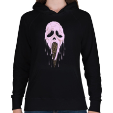 PRINTFASHION Jégsikoly - Női kapucnis pulóver - Fekete