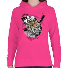PRINTFASHION Megvilágosodás  - Női kapucnis pulóver - Fukszia