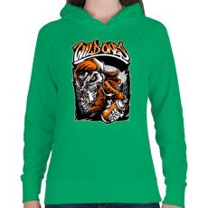 PRINTFASHION Vadak - Női kapucnis pulóver - Zöld