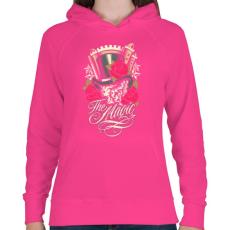 PRINTFASHION Varázslat - Női kapucnis pulóver - Fukszia