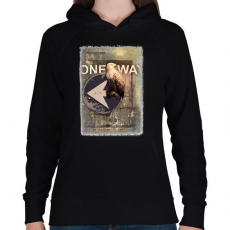 PRINTFASHION Egy út - Női kapucnis pulóver - Fekete