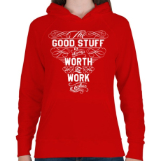 PRINTFASHION Munka - Női kapucnis pulóver - Piros