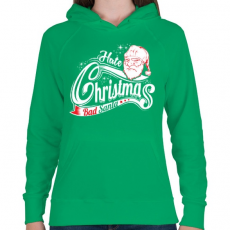 PRINTFASHION Szemét Mikulás - Női kapucnis pulóver - Zöld