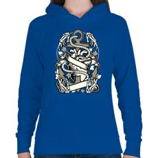PRINTFASHION Szív és Horgony - Női kapucnis pulóver - Királykék