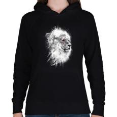 PRINTFASHION Harcos Lélek - Női kapucnis pulóver - Fekete