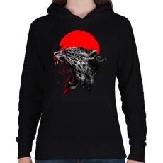 PRINTFASHION Vérfürdő - Női kapucnis pulóver - Fekete