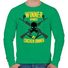 PRINTFASHION PUBG - WINNER WINNER CHICKEN DINNER - Férfi pulóver - Zöld