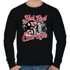 PRINTFASHION Amerikai Hot Rod Garázs - Férfi pulóver - Fekete