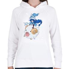 PRINTFASHION Lulu - Női kapucnis pulóver - Fehér