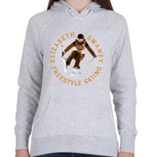 PRINTFASHION Erzsi a sas - Női kapucnis pulóver - Sport szürke