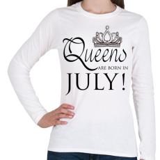 PRINTFASHION Queens - Női hosszú ujjú póló - Fehér