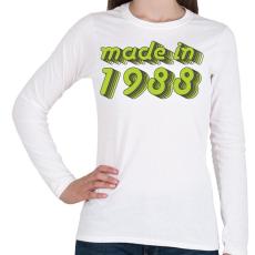 PRINTFASHION made-in-1988-green-grey - Női hosszú ujjú póló - Fehér