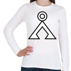 PRINTFASHION Tauri - Női hosszú ujjú póló - Fehér
