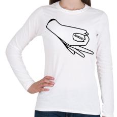 PRINTFASHION Belenéztél! - Női hosszú ujjú póló - Fehér