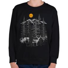 PRINTFASHION Szarvasok - Gyerek pulóver - Fekete